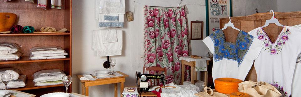 Taller de textiles de Magdalena Caamal en Maní, Yucatán.