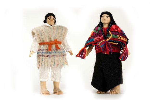 María y Pascuala Patixtán Licanchitón | Pareja Chamula | Tejido en telar de cintura | San Juan Chamula, Chiapas.